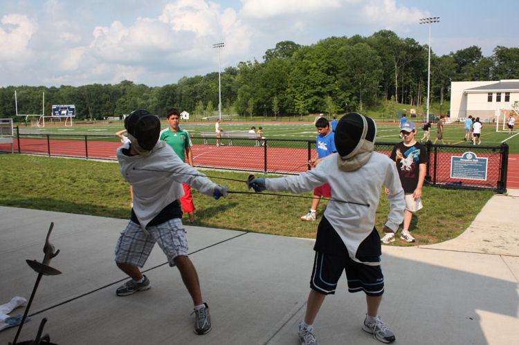 Fencing camp activity