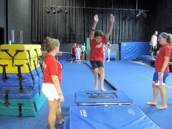 Gymnastics mini-tram