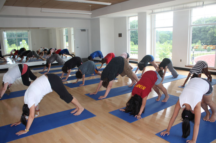 Teens at yoga