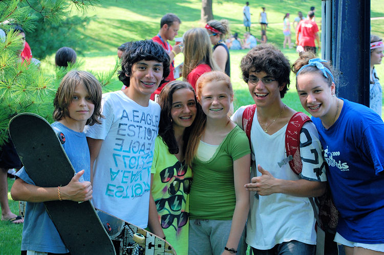 Teens at Summer Camp