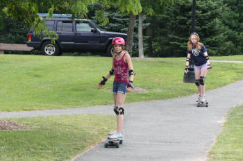 longboarding girls