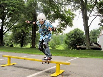 Skate park rails