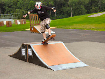 Skate park tricks