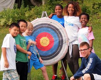 Kids at archery
