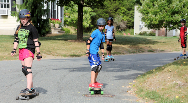 Large Longboarding group