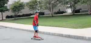 Longboarding at summer camp