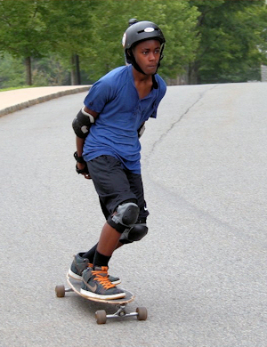 Long boarg at camp