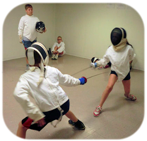 fencing at Campus Kids