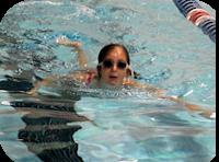 Swimming at camp
