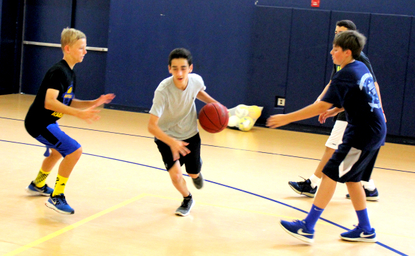 Basketball at summer camp