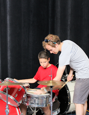 Drumming at Camp!