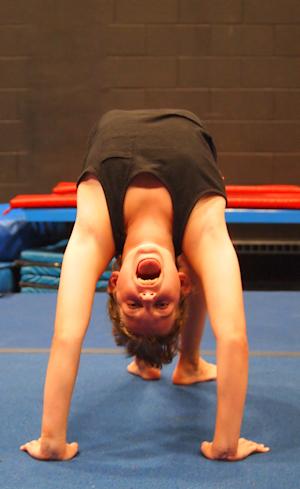 Gymnast at Camp!