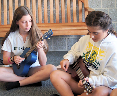 Ukulele at summer camp