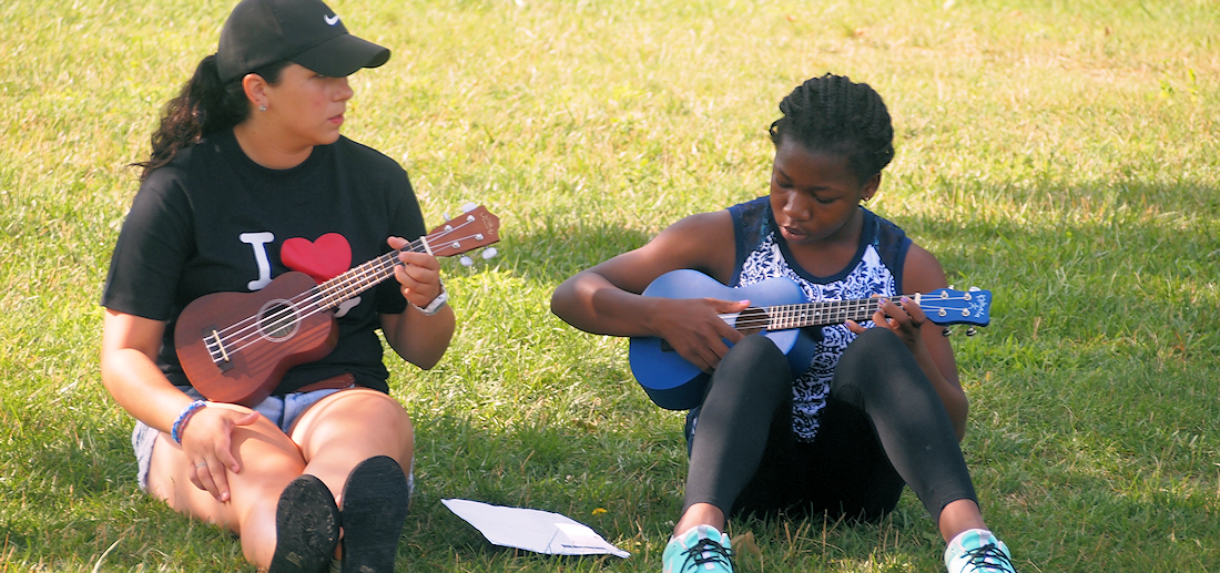 Ukulele at Camp
