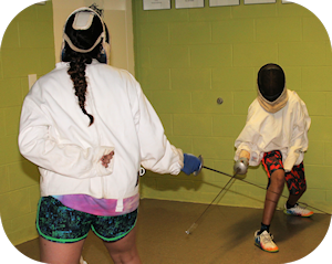 Fencing at Camp